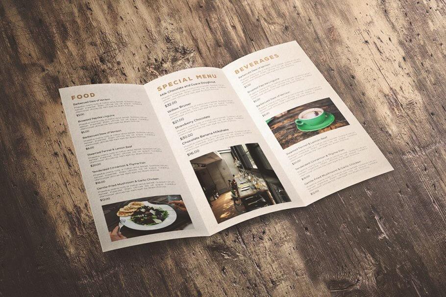 Classic Trifold Brochure Menu (1)
