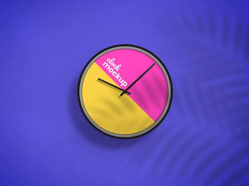 Free Great Clock Design Mockup PSD Template