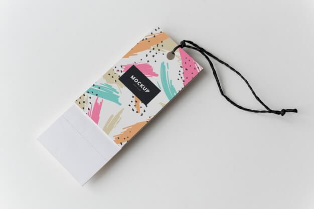 Colorful bookmark tags mockup design Free Psd (1)