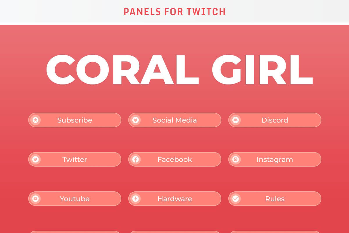 Coral Girl - Twitch Panels