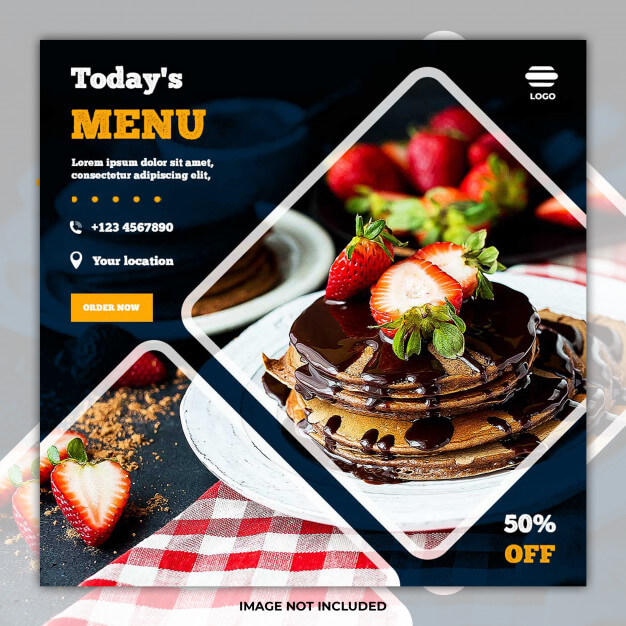 Culinary food social media post banner Premium Psd (1)