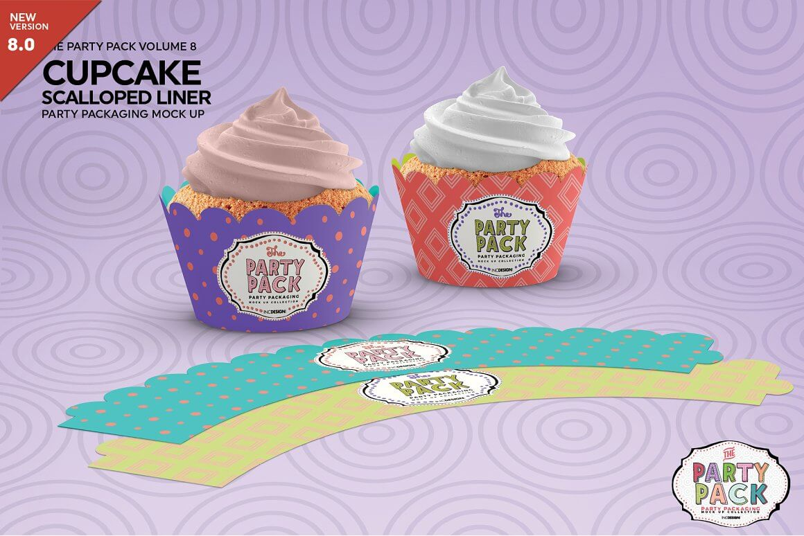 Cupcake Scalloped Liner Party Mo...