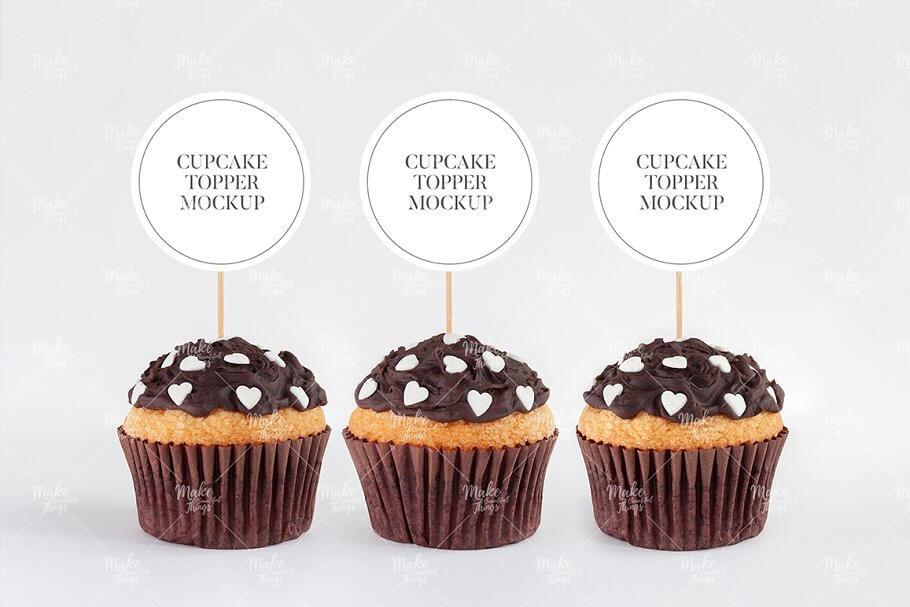 Cupcake Topper Label MockUp