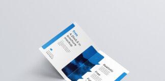 Customizable Free Bifold Brochure Mockup PSD Template1