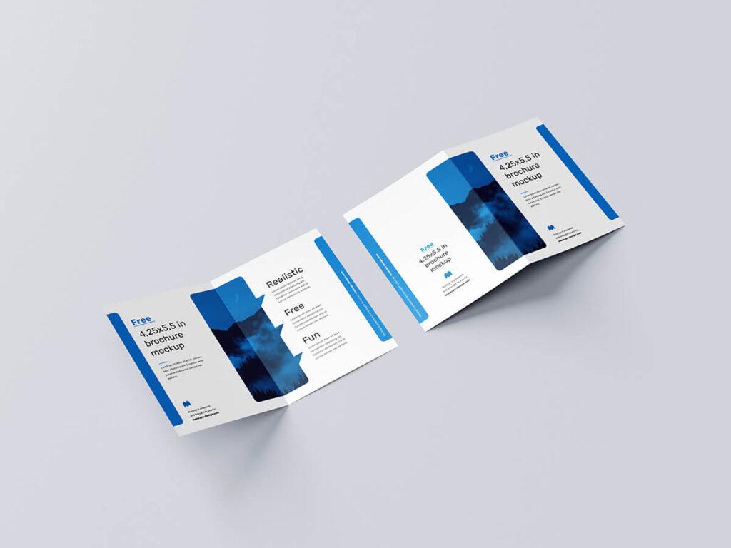 Customizable Free Bifold Brochure Mockup PSD Template2