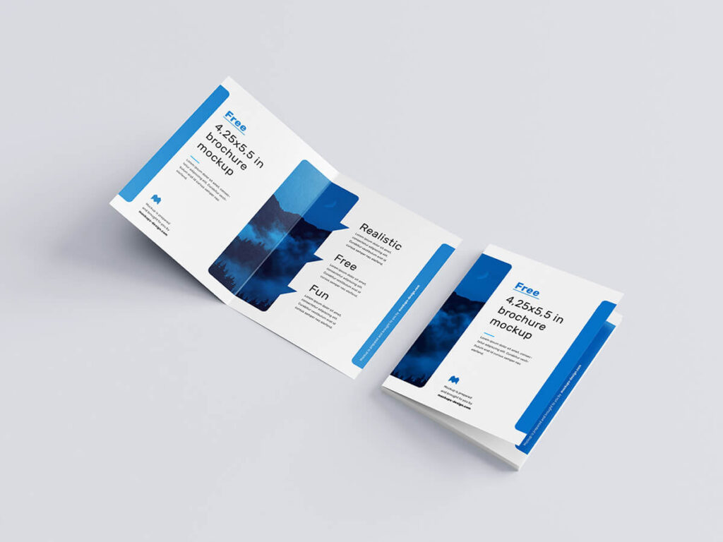 Customizable Free Bifold Brochure Mockup PSD Template3