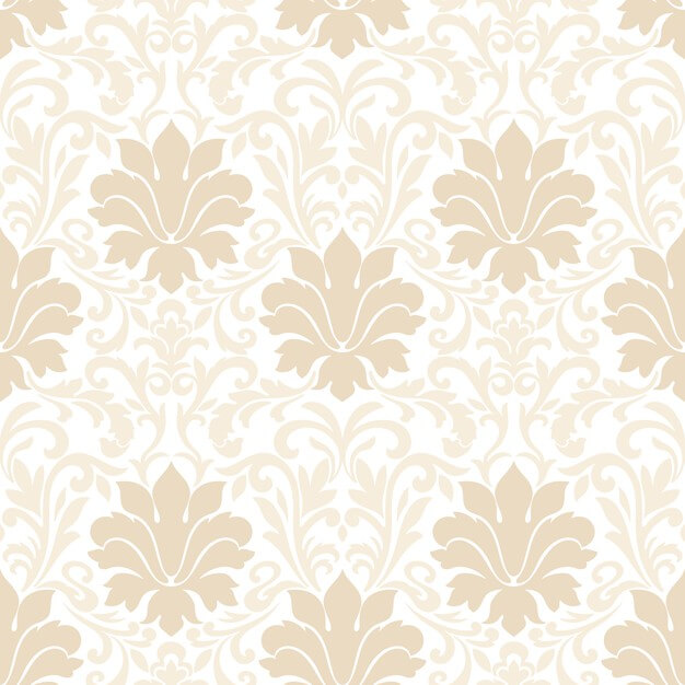 Damask seamless pattern. classical luxury old fashioned damask ornament, royal victorian seamless texture for wallpapers, textile, wrapping. Free Vector (1)