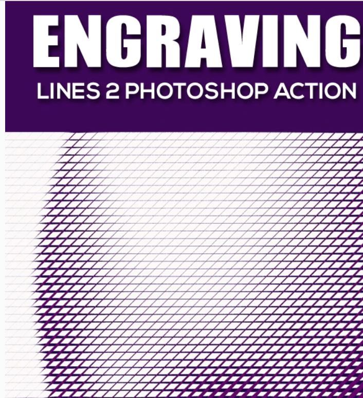 Engraving Lines 2 Photoshop Action