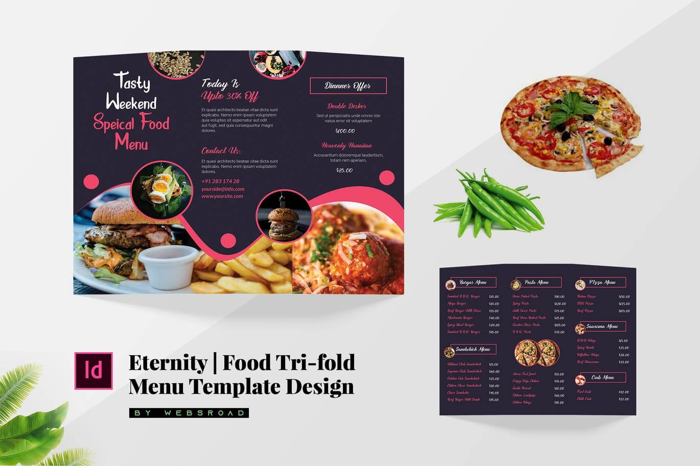 Eternity Food Tri-Fold Menu Template Design (1)