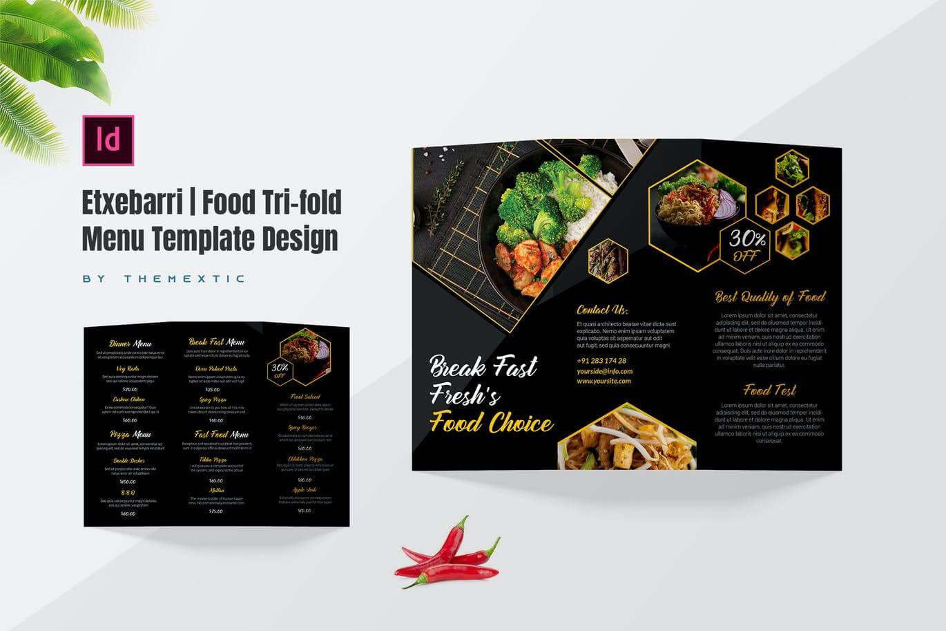 Etxebarri Food Tri-fold Menu Template Design (1)
