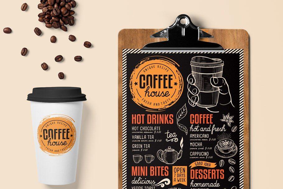 FREE! Trifold + Coffee Chalkboard (2)