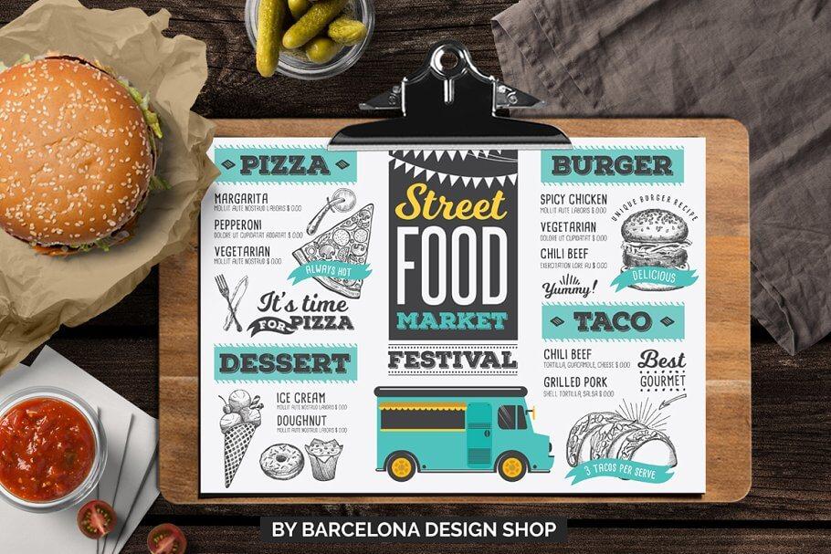 FREE! Trifold + Food Truck Menu (1)