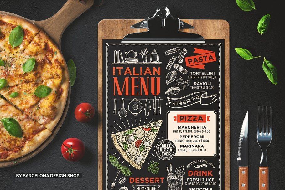FREE! Trifold + Italian Food Menu (1)