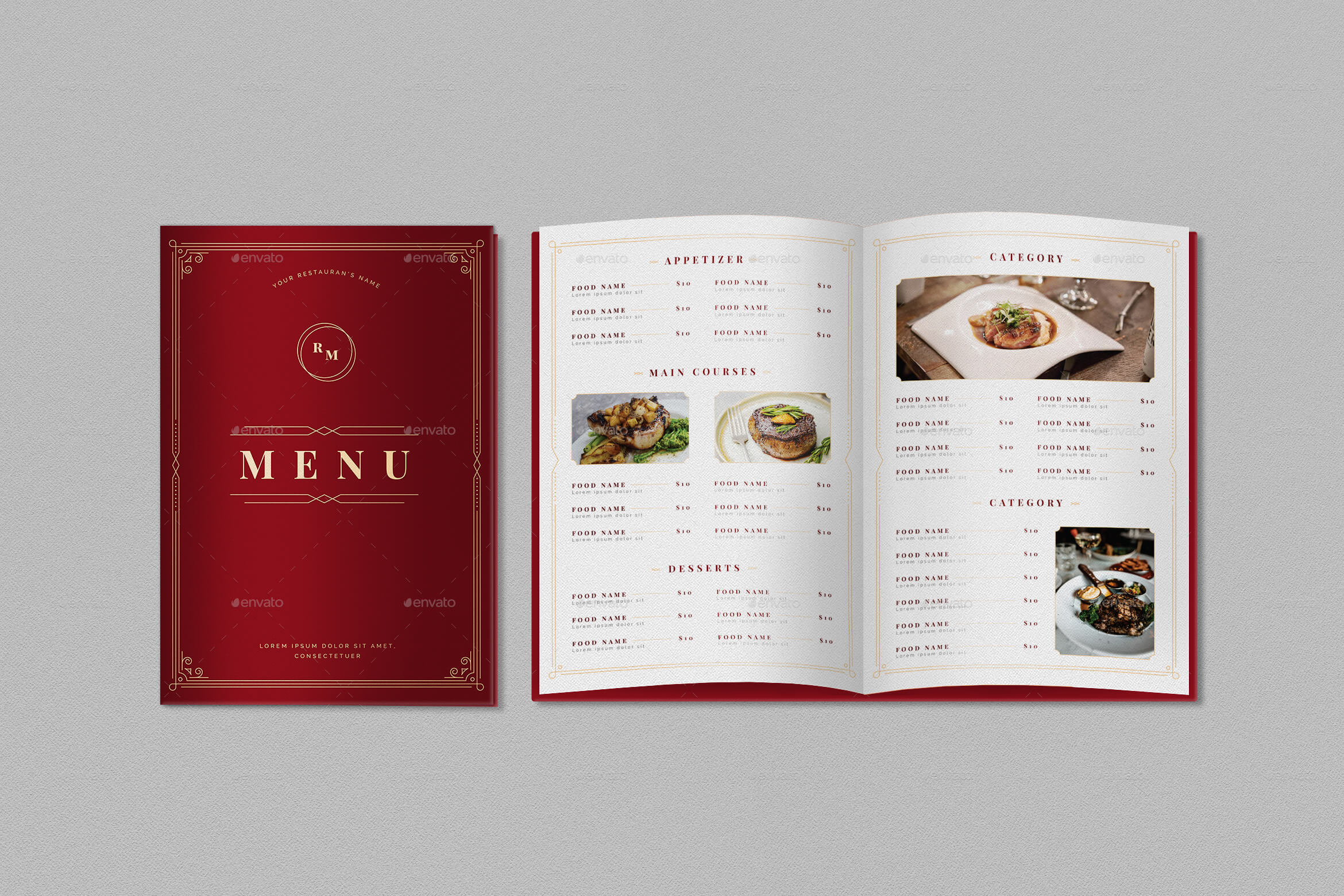Fancy Food Menu Set (1)