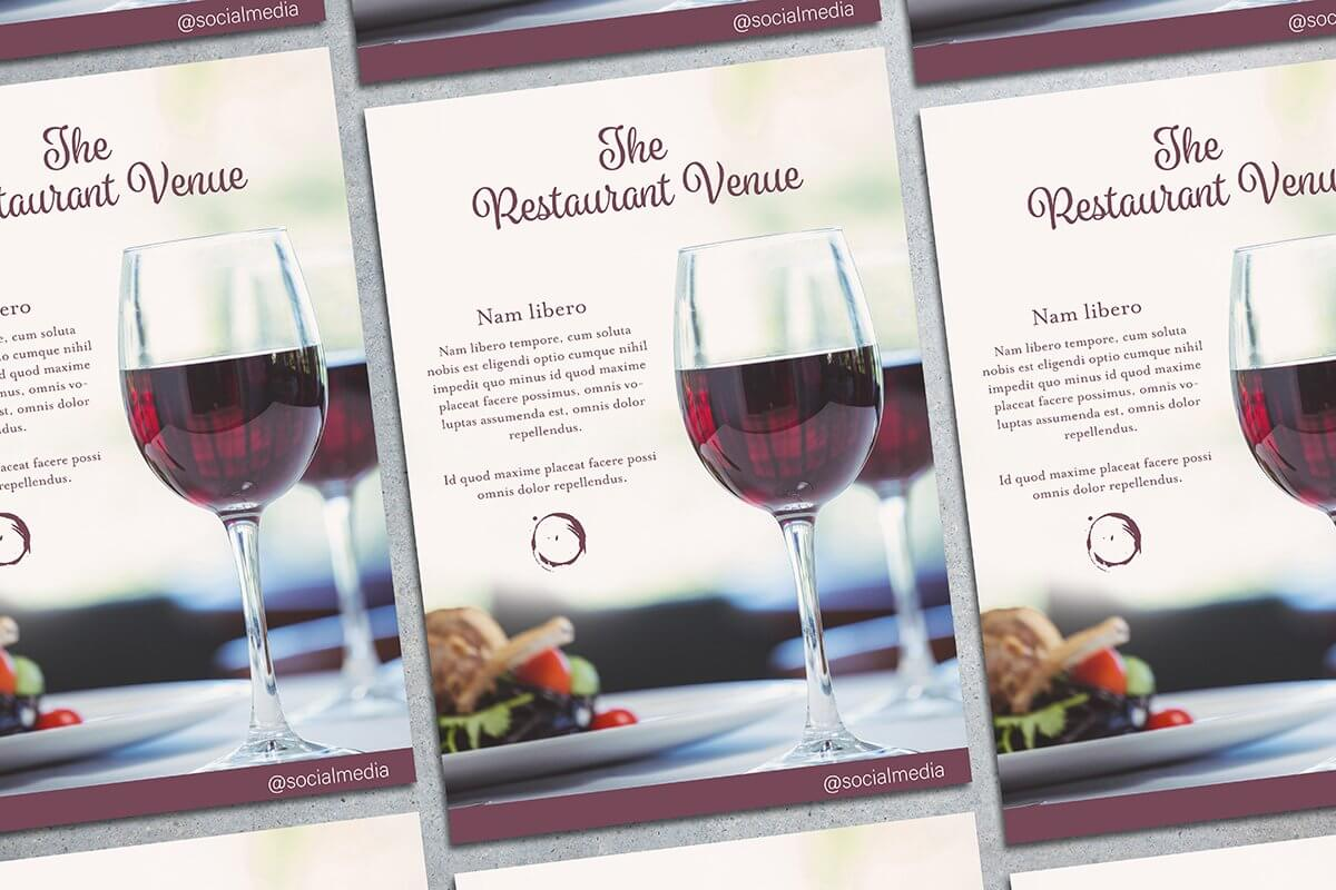 Fancy Restaurant Flyer Mockup (1)
