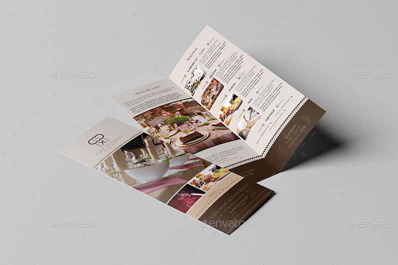 Fine Dining Restaurant Take-out Brochure Template
