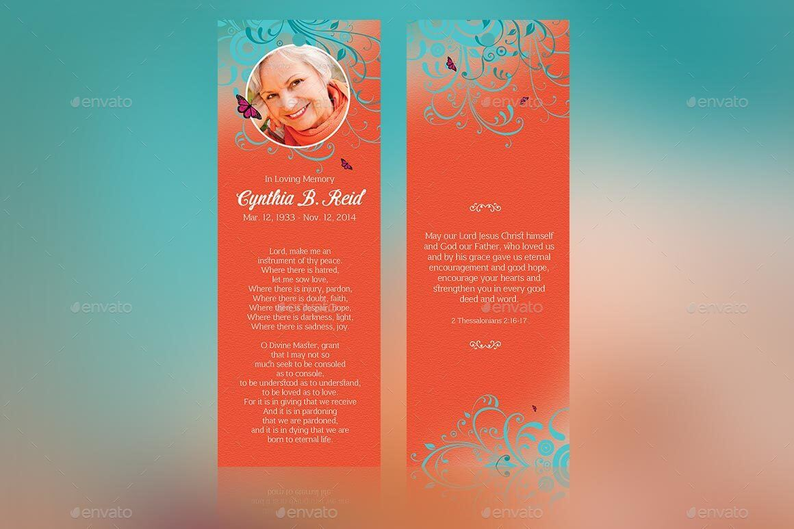 Flourish Funeral Bookmarker Template (1)