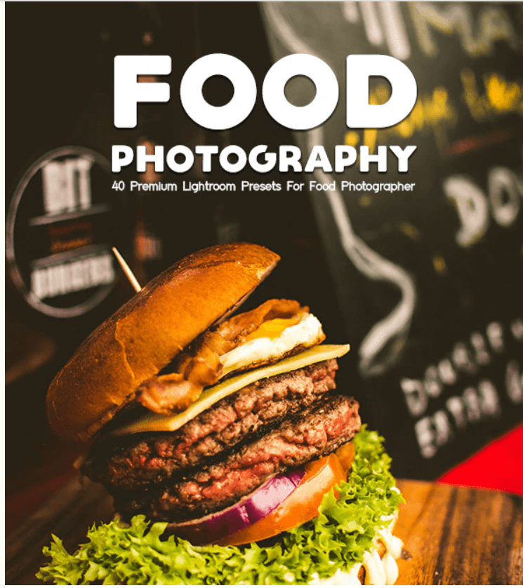 Food Photography 40 Premium Lightroom Presets
