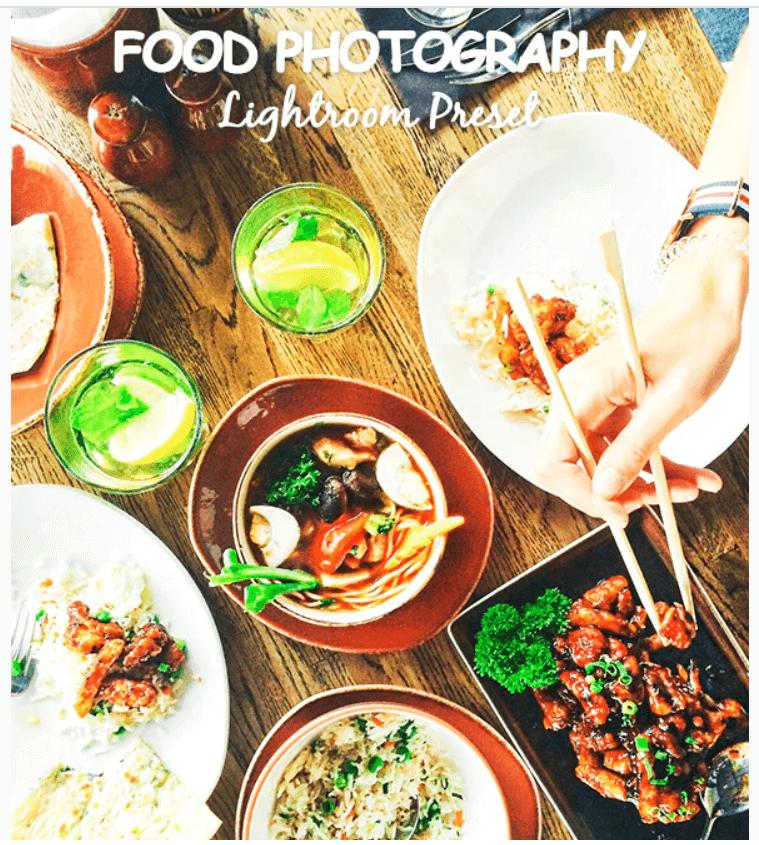 Food Photography Lightroom Preset