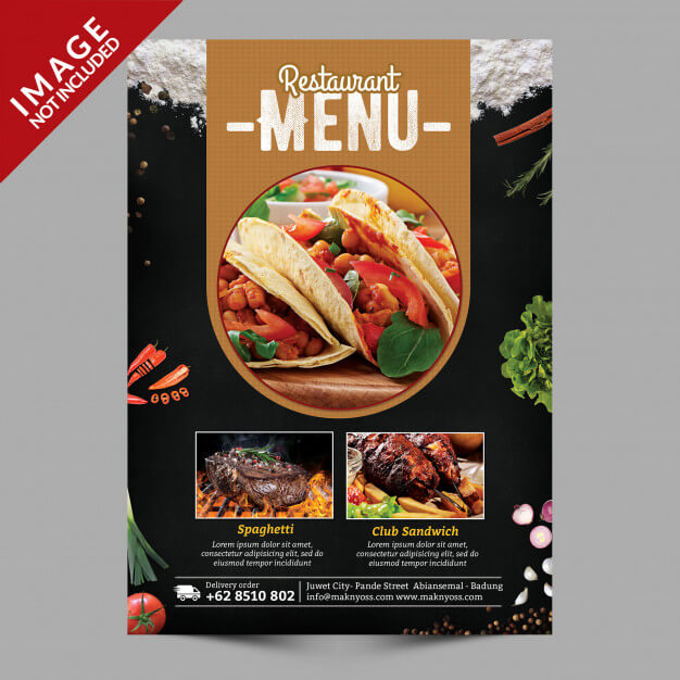 Food menu flyer Premium Psd (1)