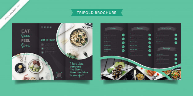 Food trifold brochure template Premium Vector (1)