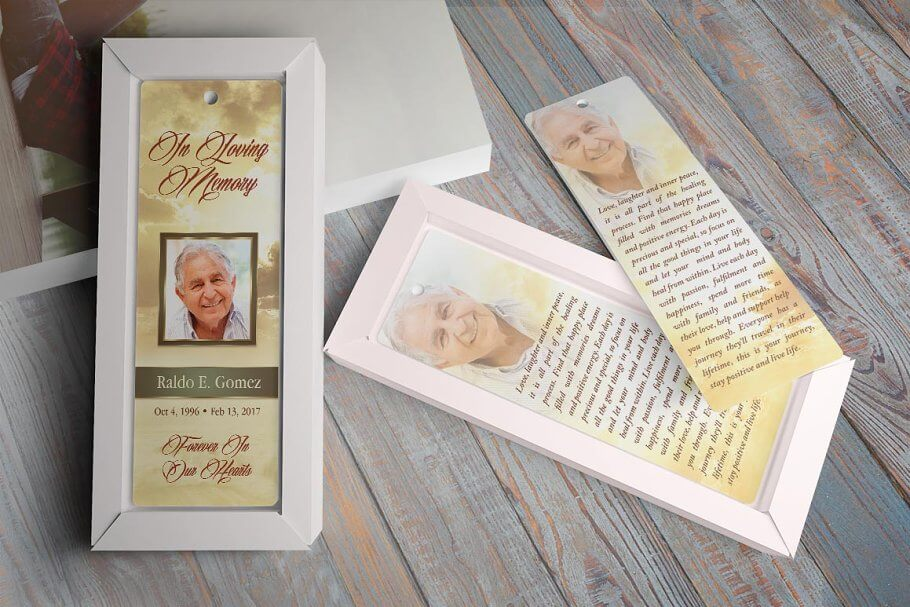 Forever Funeral Bookmark Template (1)