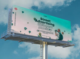 Free Advertising Billboard Mockup Vol4 PSD Template