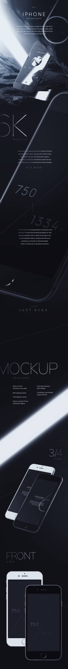Free Amazing iPhone 6 Mockups PSD Templates2