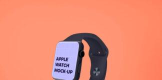 Free Apple Watch Screen Mockup PSD Template