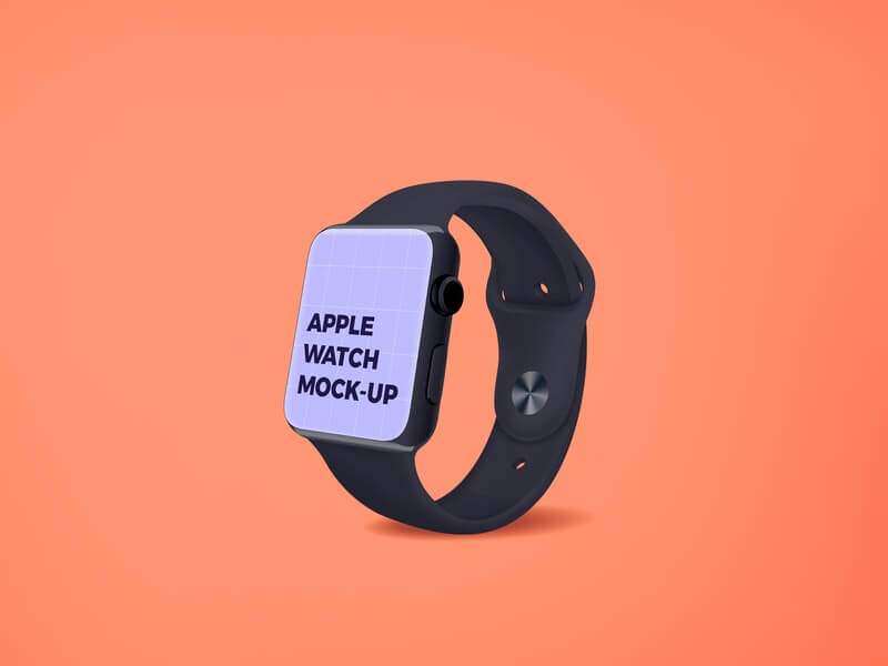 Free Apple Watch Screen Mockup PSD Template