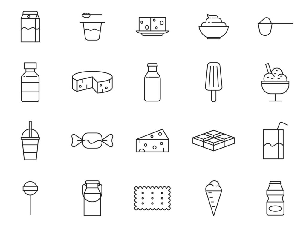 Free Attractive 20+ Dairy Products Vector Icons