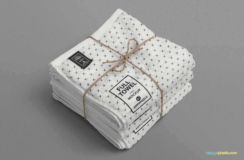 Free Attractive Beach Towel Mockup PSD Template1