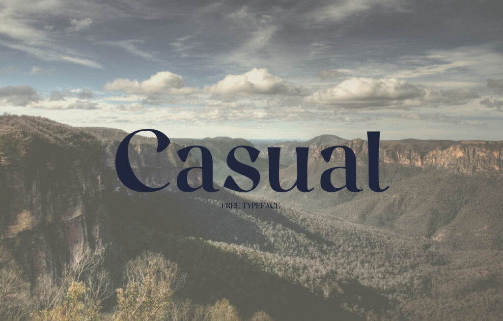 Free Attractive Casual Font1