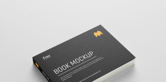 Free Attractive Landscape Book Mockup PSD Template1