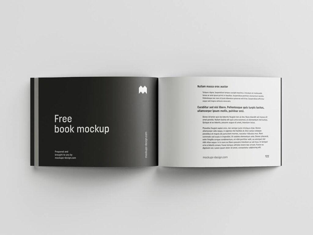 Free Attractive Landscape Book Mockup PSD Template3
