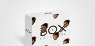 Free Awesome Box Packaging Mock Up PSD Template