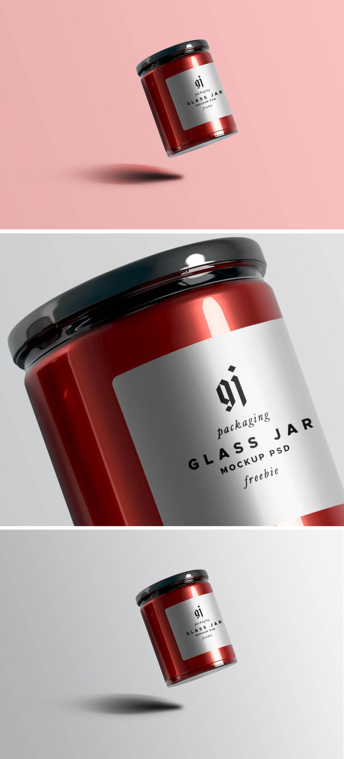 Free Awesome Glass Jar Mockup PSD Template1