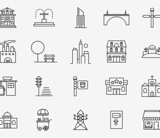 Free Beautiful 20+ Town Vector Icons