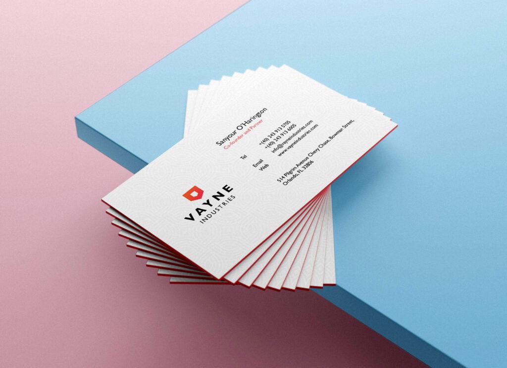 Free Beautiful Business Card Mockup Vol-07 PSD Template