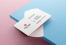 Free Beautiful Business Card Mockup PSD Template Vol-07 1