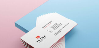 Free Beautiful Business Card Mockup PSD Template Vol-07 1