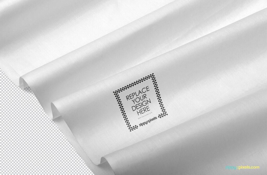 Free Beautiful Fabric Mockup PSD Template2