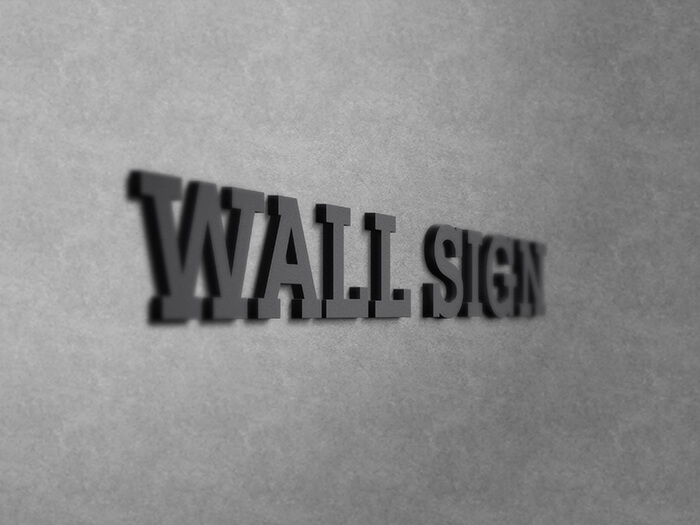 Free Beautiful Wall Sign Logo Mockup PSD Template1