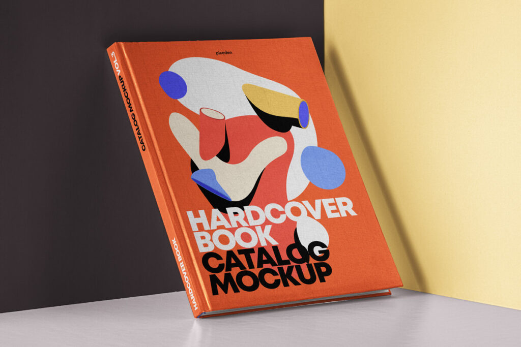 Free Branding Hardcover Book Catalog Mockup PSD Template1