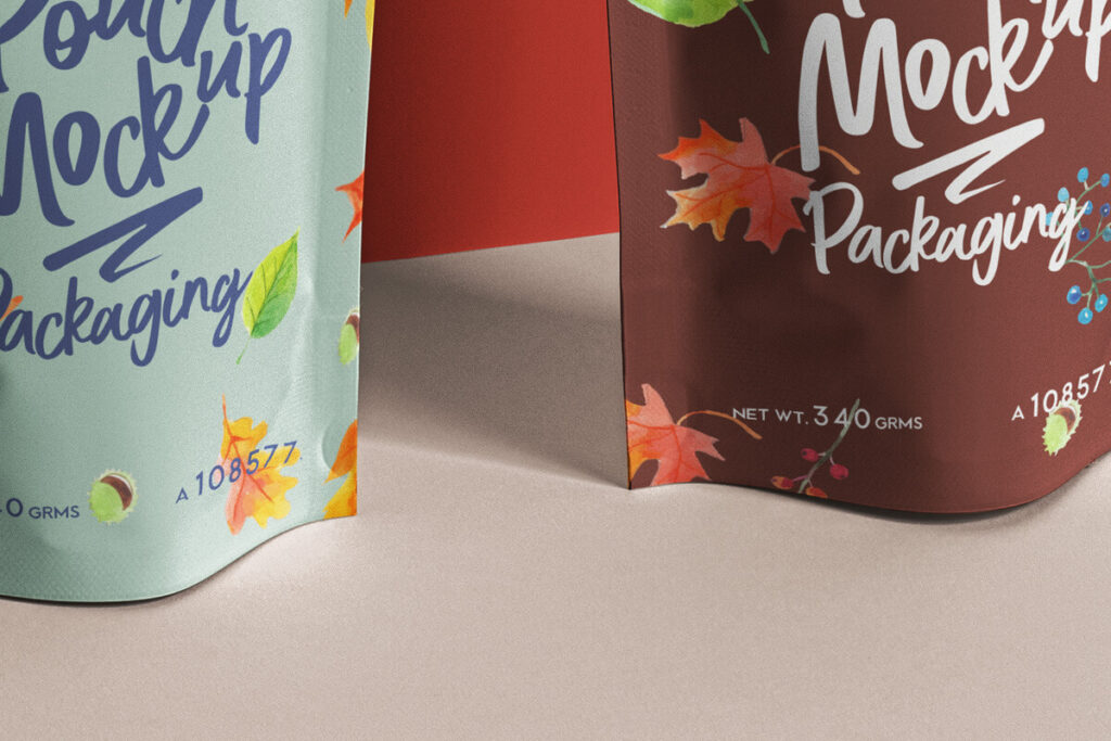 Free Branding Stand-Up Pouch Packaging Mockup PSD Template4
