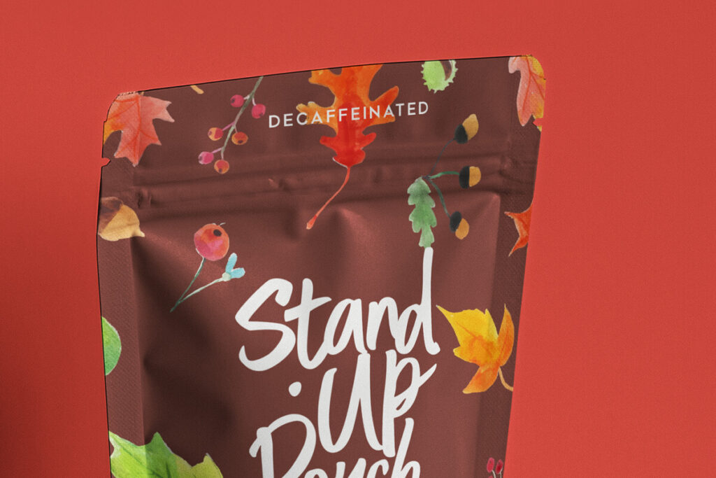 Free Branding Stand-Up Pouch Packaging Mockup PSD Template5