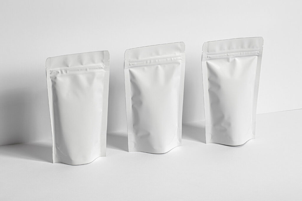 Free Branding Stand-Up Pouch Packaging Mockup PSD Template6