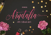 Free Calligraphic Arnetalia Font1