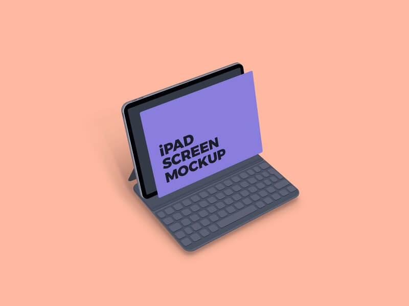 Free Clean iPad Screen Mockup PSD Template