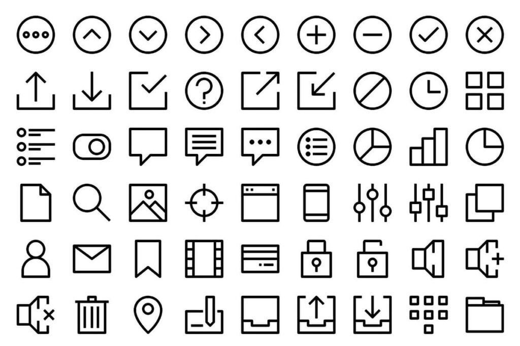 Free Creative 500+ Essential Vector Icons Collection1